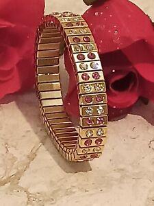 Formal Teen Bracelet for ladies Teenager Prom Jewelry Pink Swarovski Crystal 24k