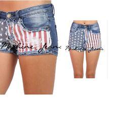 Machine Shorts American Flag US Patriot High & low rise Sexy Maga Fashion USA