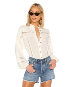 FREE PEOPLE Summer Stars Button Down Shirt Size XS NWT RRP £108.00