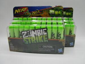2 - Nerf Zombie Strike Dart Gun Refill 30x Lot Of 2 Total Of 60 Darts Brand New
