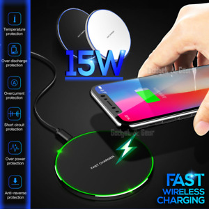 15W Qi Fast Charging Wireless Charging Charger Pad Mat For iPhone Samsung Google
