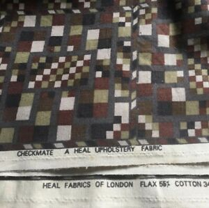 Liberty Of London Vintage Bauhaus Fabric By Collier Campbell Checkmate Geome