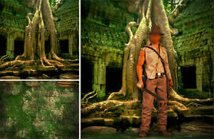 POSTER BACKDROP SHIPS ROLLED~INDIANA JONES~OLD TEMPLE FOR 1/6 FIGURE TOMB RAIDER