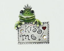 a Crown - Kiss Me Ajmc Pewter Pin - Frog Wearing