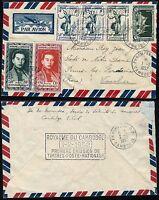 Kambodscha Khmere 1952 Brief Luftpost FDC König Tänzerin Halle Frankreich / 9