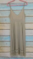 M&S Autograph fine knit sundress silver grey UK 18 strappy casual lagenlook