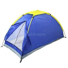 Outdoor Portable UV-resistant One Person Camping Tent Single Layer Blue G2S7