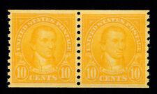 Momen: Us Stamps #603 Coil Pair Mint Og Nh Pse Graded Cert Sup-98
