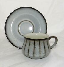 Bourne Denby Pottery Studio Pattern Cup and Saucer made in Stoneware
