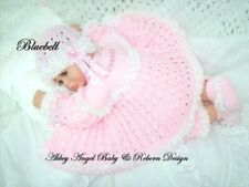 KNITTING PATTERN TO MAKE FOR BABY/REBORN GIRL  0-3 MONTHS (Bluebell)