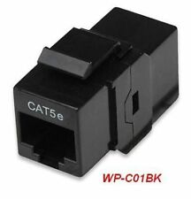 RJ45 Female to Female UTP CAT5e Keystone Coupler, Black, WP-C01BK