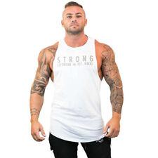 Mens Bodybuilding Stringer Tank Top Y-Back Gym Workout Sports Vest Shirt Clothes