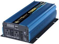 Heavy Duty Power Inverter Power Bright 12 Volt DC To AC 1100-Watt  LED Display