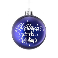 1x PERSONALISED FAMILY NAME VINYL DECAL STICKER FOR CHRISTMAS BAUBLE DECORATION