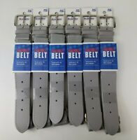 Lot of 6 Academy Adjustable GREY Youth Baseball Softball Belt 18 in to 34in