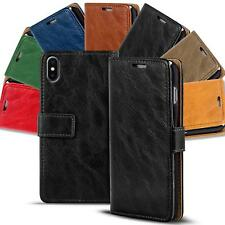 Apple iPhone X Xs Shockproof Wallet Book Case Cover PU Leather Flip Holder Stand