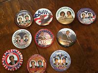 John Kerry and John Edwards 2004 presidential run pins, elizabeth edwards, wives