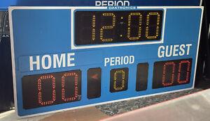 Daktronics BB-2101 LED Basketball Scoreboard w/ All Sport 1600 Control Console