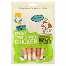 Good Boy Pawsley Dog Puppy CHEWY TWISTS CHICKEN Rawhide Sticks Chews Treats 90g