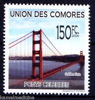 Comoros 2009 MNH, Golden Gate Bridge, In North American strait, Architecture (4)
