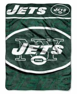 "The Northwest Company NFL New York Jets 46"" x 60"" Fleece Plush Blanket Throw"