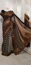 DAZZLING INDIAN ASIAN BRIDAL SAREE/SARI WITH SHORT SLEEVE BLOUSE🤩