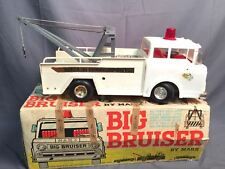 Marx Big Bruiser Vintage Battery Powered Wrecker Tow Truck Made In USA