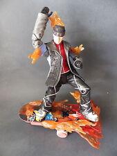 MARVEL 4 Fantastiques figurine Human Torch 20 cm avec skateboard 2005 Toy BIZ