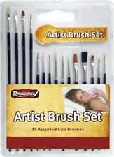 15 PCS ASSORTED ARTIST PAINT BRUSH SETS Acrylic/Oil/Watercolour Thin Thick round