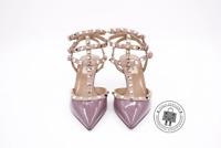 "Valentino LW2S0375VNW Rockstud Ankle Strap 65MM / 2.5"" Violet / 770 Patent 37.5"