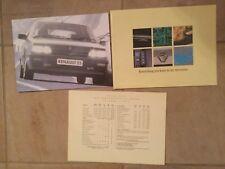 Renault 25 oct 1990 UK Market Mailer Sales Brochure Baccara V6i TXi TXE TX GTS