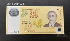 Singapore - 2007 $20 CIA40 *last 3 Digit 333*  | UNC