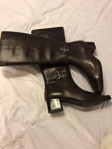 Chadwick's New Knee Hi Side Zip Dark Brown Ladies Riding Boots 8 1/2