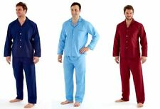 Harvey James Gents Mens Poly Cotton Long Pyjamas Pjs Nightwear S-5XL Plus Size