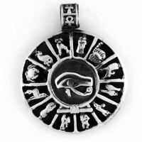Egyptian Jewelry Silver Eye of Horus Pendant