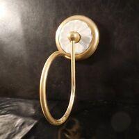 Applique murale métal doré céramique porcelaine art déco vintage Design XX N3346