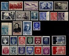 L'ANNÉE 1942 Complète, Neufs * = Cote 53 € / Lot Timbres France 538 à 567
