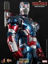 HOT TOYS / SIDESHOW,  IRON MAN 3~IRON PATRIOT~SIXTH SCALE FIGURE DIE CAST .