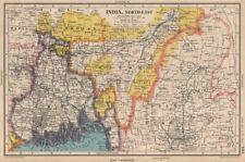 BRITISH INDIA NORTH EAST. Bengal Assam Bhutan Upper Burma. BARTHOLOMEW 1944 map