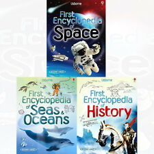 Usborne First Encyclopedias Series 2 Collection Space History 3 Books Set PACK