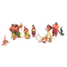Moana Figures Toys Set 12 Pcs (3cm - 8cm Approx)