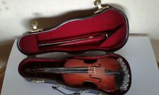 Vintage MINIATURE VIOLIN WITH BOW & CASE
