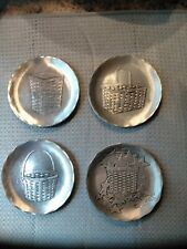 August Wendell Small Pewter Plates or Coasters of Longaberger - Set of 4