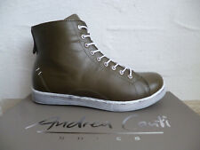 Andrea Conti Ankle Boots Lace Up Mud Leather New
