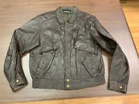 RARE Vintage Mad Max Men's Brown Leather Jacket - Size 40