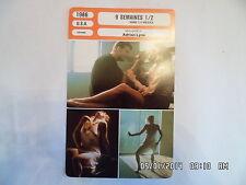 CARTE FICHE CINEMA 1986 9 SEMAINES 1/2 Mickey Rourke Kim Basinger