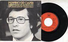 PEPPINO DI CAPRI raro 45 MADE in SPAIN Un grande amore e niente piu SANREMO 1973