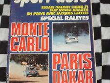 SPORT AUTO 1982 RALLYE MONTE-CARLO / PARIS DAKAR / FIAT RITMO ABARTH / n°240