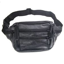 100% Leather BUM BAG WITH 7 POCKETS WAIST BELT WALLET SH