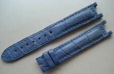 GENUINE CARTIER PASHA WATCH STRAP BAND PASTEL BLUE ALLIGATOR LEATHER 16 x 14 mm